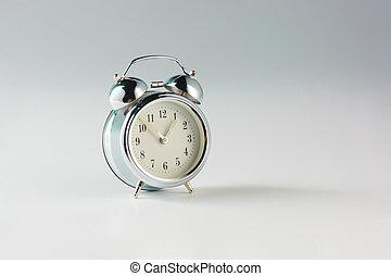 Retro alam clock - The retro alam clock on gray studio...