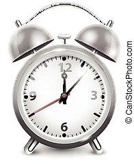 Retro Alarm Clock In Metal Housing