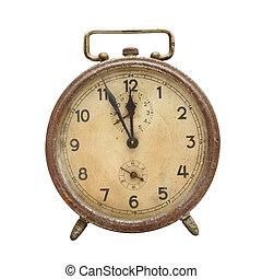 retro, alarm, clock.