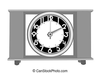 retro alarm clock on white background