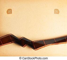 retro, album foto, fondo, con, filmstrip