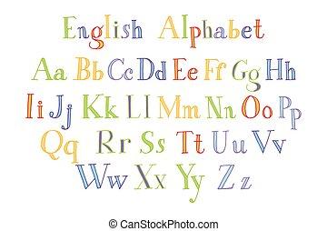 Retro alphabet font.