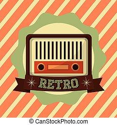 retro, altes radio, musik