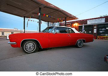 retro american car