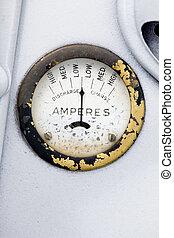 A retro steampunk style amp gauge