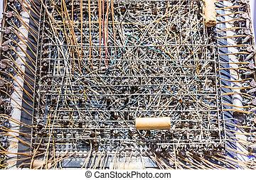 Retro analog technology exhibit in computer museum USA