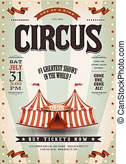 Retro And Grunge Circus Background