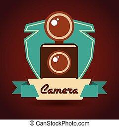 retro, appareil photo, conception