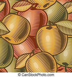 Retro apple background