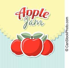 Retro apple jam label