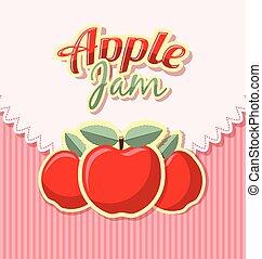 Retro apple jam