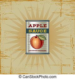 Retro Apple Sauce Can