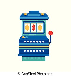 Retro arcade casino slot machine vector Illustration on a white background