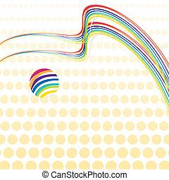 retro, arcobaleno, fondo