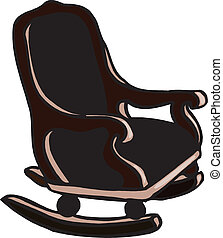 Retro armchair, vector