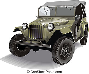 retro army jeep. Available EPS-10 vector format separated by...