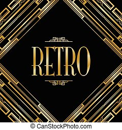 retro art deco invitation