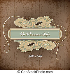 Retro Art Nouveau Title | EPS 10 Vector Background
