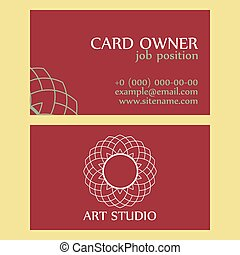 Retro Art Studio Business Card Template
