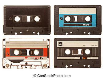 Retro audio cassettes