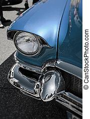 retro, autó, -, amerikai, klasszikus művek