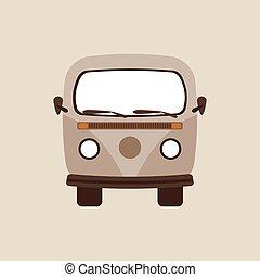 retro, autó, tervezés