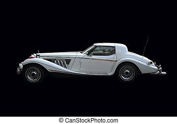 retro, automóvil de lujo