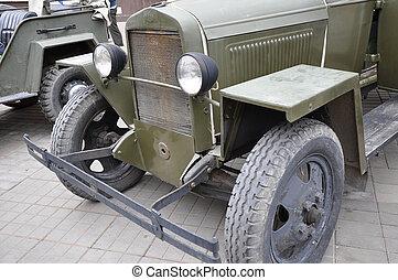 retro, automóvil