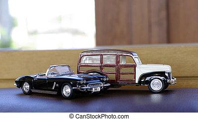 retro, automobile, giocattolo