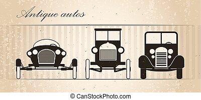 retro, autos