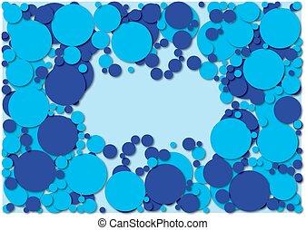 retro, azul, puntos
