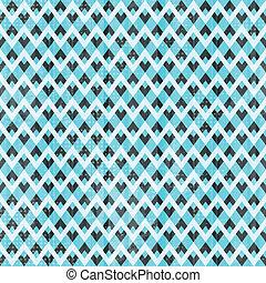 retro, azul, seamless, padrão