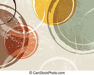 Retro background - circle design - Vintage circle template -...