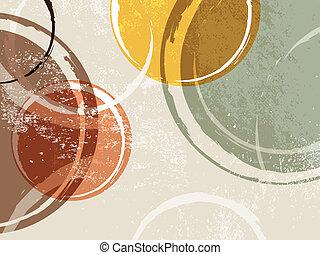 Retro background - circle design - Vintage circle template -...