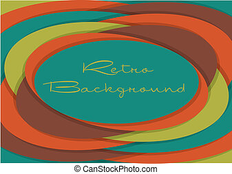 Retro Background - Oval inspired retro abstract background...