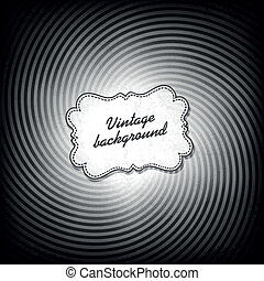 Retro background in black and white gamut. Vector, EPS10