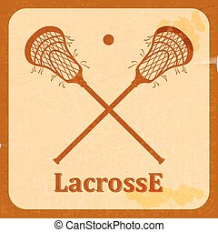 Retro background lacrosse. Vintage