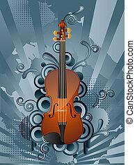 Retro background  - retro background with the violin.