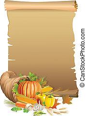 Retro background Thanksgiving
