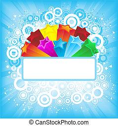 Retro background - Retro styled starburst background