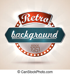 Retro background - Retro style sign with copyspaces for your...