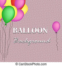 Retro background with balloons. Vector illustration