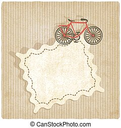 retro background with bicycle
