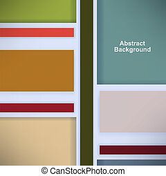 Retro background with colored squares and stripes