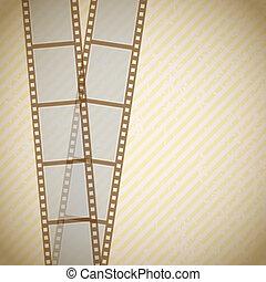 retro background with filmstrip