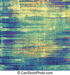 Retro background with grunge texture. With different color patterns: yellow (beige); blue; green; cyan