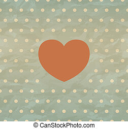Retro background with heart