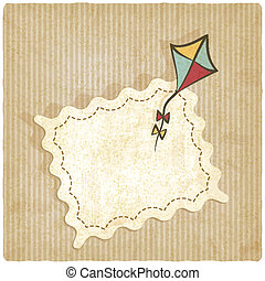 retro background with kite
