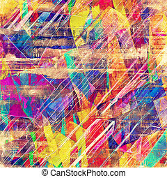 Retro background with old grunge texture. With different ...