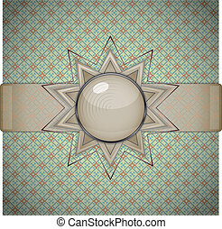 Retro background with ornament